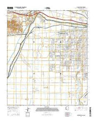 Yuma West Arizona Current topographic map, 1:24000 scale, 7.5 X 7.5 Minute, Year 2014