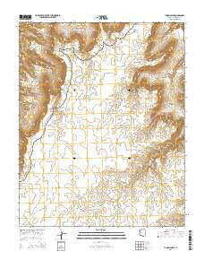 Yunosi Point Arizona Current topographic map, 1:24000 scale, 7.5 X 7.5 Minute, Year 2014