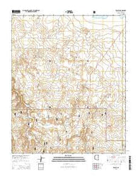 Zeniff Arizona Current topographic map, 1:24000 scale, 7.5 X 7.5 Minute, Year 2014