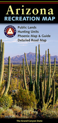 Buy map Arizona Recreation Map by Benchmark Maps