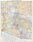 Arizona Recreation Map by Benchmark Maps - Back of map