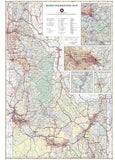 Idaho Recreation Map by Benchmark Maps - Back of map