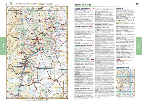 Buy Map New Mexico Road And Recreation Atlas By Benchmark Maps