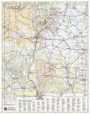 New Mexico Recreation Map by Benchmark Maps - Back of map
