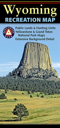 Buy map Wyoming Recreation Map by Benchmark Maps