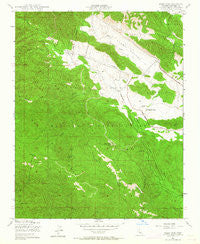 Alder Peak California Historical topographic map, 1:24000 scale, 7.5 X 7.5 Minute, Year 1949