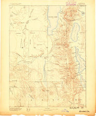 Alturas California Historical topographic map, 1:250000 scale, 1 X 1 Degree, Year 1886