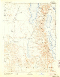 Alturas California Historical topographic map, 1:250000 scale, 1 X 1 Degree, Year 1892