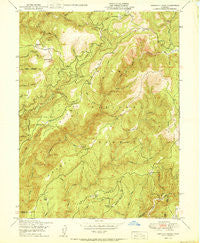 American House California Historical topographic map, 1:24000 scale, 7.5 X 7.5 Minute, Year 1950