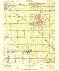 Anaheim California Historical topographic map, 1:24000 scale, 7.5 X 7.5 Minute, Year 1950