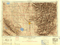 Bakersfield California Historical topographic map, 1:250000 scale, 1 X 2 Degree, Year 1948