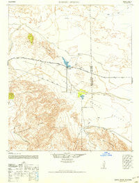 Barrel Spring California Historical topographic map, 1:62500 scale, 15 X 15 Minute, Year 1942