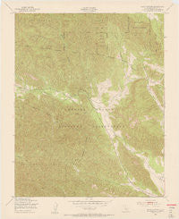 Bear Canyon California Historical topographic map, 1:24000 scale, 7.5 X 7.5 Minute, Year 1949