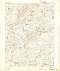 Bidwell Bar California Historical topographic map, 1:125000 scale, 30 X 30 Minute, Year 1891