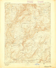 Bidwell Bar California Historical topographic map, 1:125000 scale, 30 X 30 Minute, Year 1893