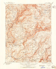 Bidwell Bar California Historical topographic map, 1:125000 scale, 30 X 30 Minute, Year 1888