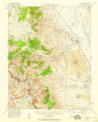 Big Pine California Historical topographic map, 1:62500 scale, 15 X 15 Minute, Year 1950