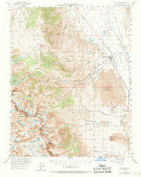 Big Pine California Historical topographic map, 1:62500 scale, 15 X 15 Minute, Year 1958