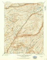 Big Trees California Historical topographic map, 1:125000 scale, 30 X 30 Minute, Year 1891