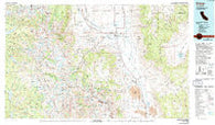 Bishop California Historical topographic map, 1:100000 scale, 30 X 60 Minute, Year 1978