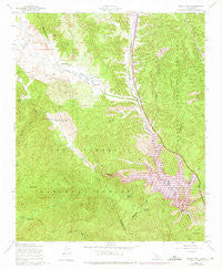 Black Mtn California Historical topographic map, 1:24000 scale, 7.5 X 7.5 Minute, Year 1958