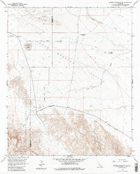 Borrego Mountain SE California Historical topographic map, 1:24000 scale, 7.5 X 7.5 Minute, Year 1958