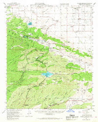Bouquet Reservoir California Historical topographic map, 1:62500 scale, 15 X 15 Minute, Year 1958