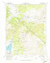 Bridgeport California Historical topographic map, 1:62500 scale, 15 X 15 Minute, Year 1958