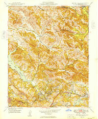 Briones Valley California Historical topographic map, 1:24000 scale, 7.5 X 7.5 Minute, Year 1949