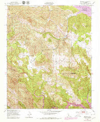 Bryson California Historical topographic map, 1:24000 scale, 7.5 X 7.5 Minute, Year 1949