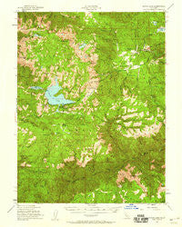 Bucks Lake California Historical topographic map, 1:62500 scale, 15 X 15 Minute, Year 1950