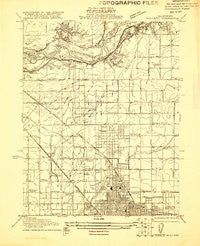 Bullard California Historical topographic map, 1:31680 scale, 7.5 X 7.5 Minute, Year 1921