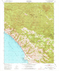 Burro Mountain California Historical topographic map, 1:24000 scale, 7.5 X 7.5 Minute, Year 1949