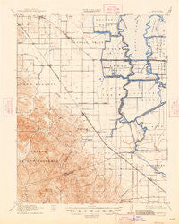 Byron California Historical topographic map, 1:62500 scale, 15 X 15 Minute, Year 1916