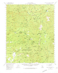 California Hot Springs California Historical topographic map, 1:62500 scale, 15 X 15 Minute, Year 1958