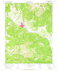 Calistoga California Historical topographic map, 1:24000 scale, 7.5 X 7.5 Minute, Year 1958