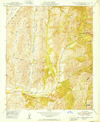 Canada Gobernadora California Historical topographic map, 1:24000 scale, 7.5 X 7.5 Minute, Year 1949