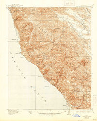 Cape San Martin California Historical topographic map, 1:62500 scale, 15 X 15 Minute, Year 1921