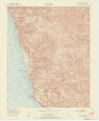 Cape San Martin California Historical topographic map, 1:24000 scale, 7.5 X 7.5 Minute, Year 1949