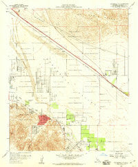 Cathedral City California Historical topographic map, 1:24000 scale, 7.5 X 7.5 Minute, Year 1958