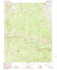 Cedar Grove California Historical topographic map, 1:24000 scale, 7.5 X 7.5 Minute, Year 1988