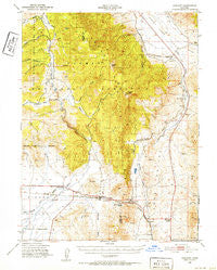 Chilcoot California Historical topographic map, 1:62500 scale, 15 X 15 Minute, Year 1950