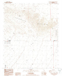 Chuckwalla Spring California Historical topographic map, 1:24000 scale, 7.5 X 7.5 Minute, Year 1988