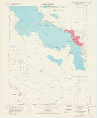 Clearlake Highlands California Historical topographic map, 1:24000 scale, 7.5 X 7.5 Minute, Year 1958