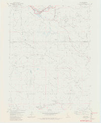 Clio California Historical topographic map, 1:24000 scale, 7.5 X 7.5 Minute, Year 1981
