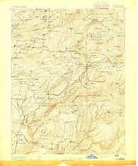 Colfax California Historical topographic map, 1:125000 scale, 30 X 30 Minute, Year 1891