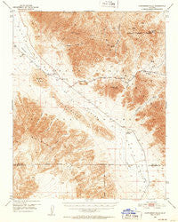 Confidence Hills California Historical topographic map, 1:62500 scale, 15 X 15 Minute, Year 1950