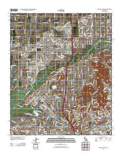 Corona North California Historical topographic map, 1:24000 scale, 7.5 X 7.5 Minute, Year 2012