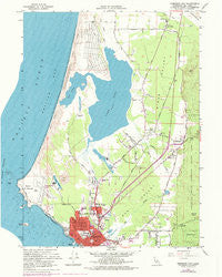 Crescent City California Historical topographic map, 1:24000 scale, 7.5 X 7.5 Minute, Year 1966