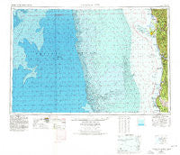 Crescent City California Historical topographic map, 1:250000 scale, 1 X 2 Degree, Year 1958